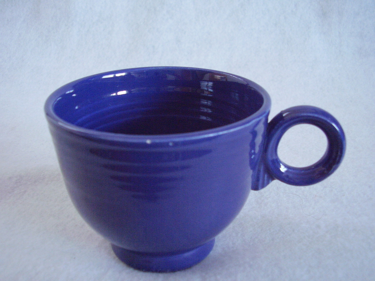 Vintage Fiestaware Cobalt Ring Handle Teacup Fiesta B