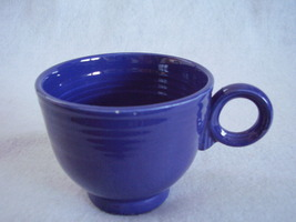 Vintage Fiestaware Cobalt Ring Handle Teacup Fiesta B - $17.82