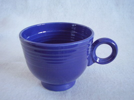 Vintage Fiestaware Cobalt Ring Handle Teacup Fiesta A - $27.54