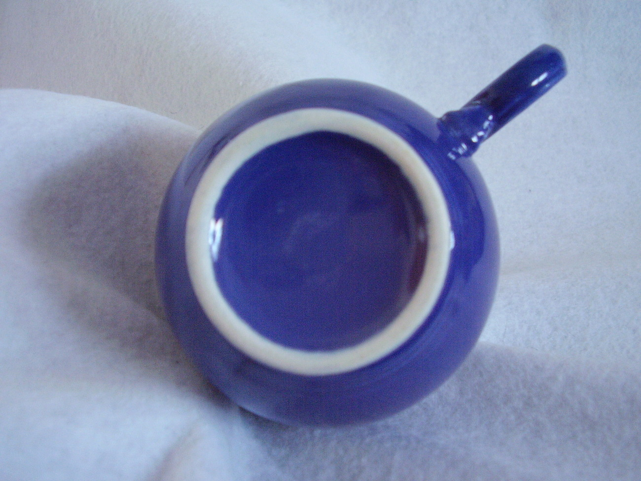 Vintage Fiestaware Cobalt Ring Handle Teacup Fiesta A