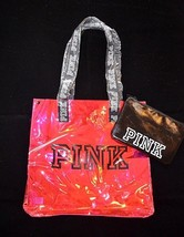 Victoria's Secret Pink Iridescent Tote & Pouch Bag Purse Satchel Handbag New Pnk - $27.67