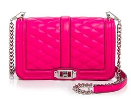 Rebecca Minkoff gesteppt Love Umhängetasche Flamingo - $225.71