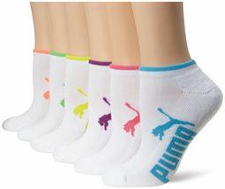 Puma Women's 6 Pack Low Cut Classic Sport Athletic Gym Moisture Control Socks image 3
