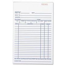 Business Source All-Purpose Forms Book, Duplicate, 50 Sheet - $5.86