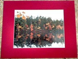 Original Photograph New Hampshire Lake Signed 1986 Colleen Arseth 16x20 ... - $9.70