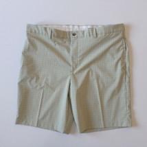 Greg Norman Shark Men's Golf Shorts Tag 40 (42x10 measured) Sage Green P... - $14.46