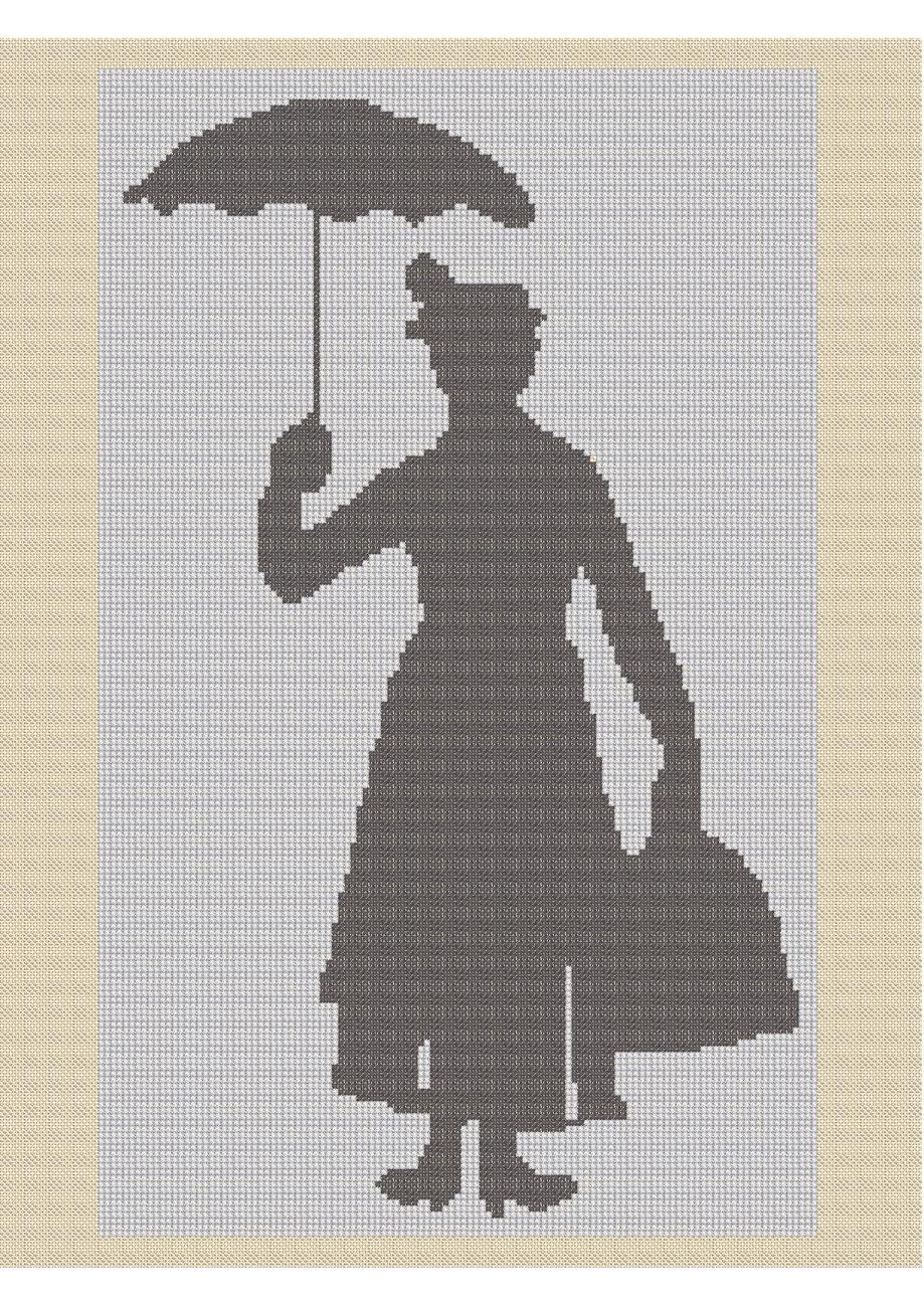 Mary Poppins Crochet Graph Afghan Pattern