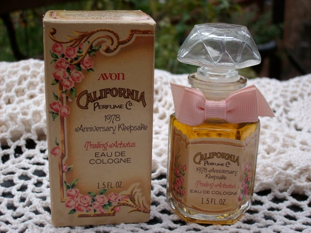 "Avon 1978 Anniversary Keepsake Bottle + 1.5 oz ""Trailing Arbutus"" Cologne - New!"