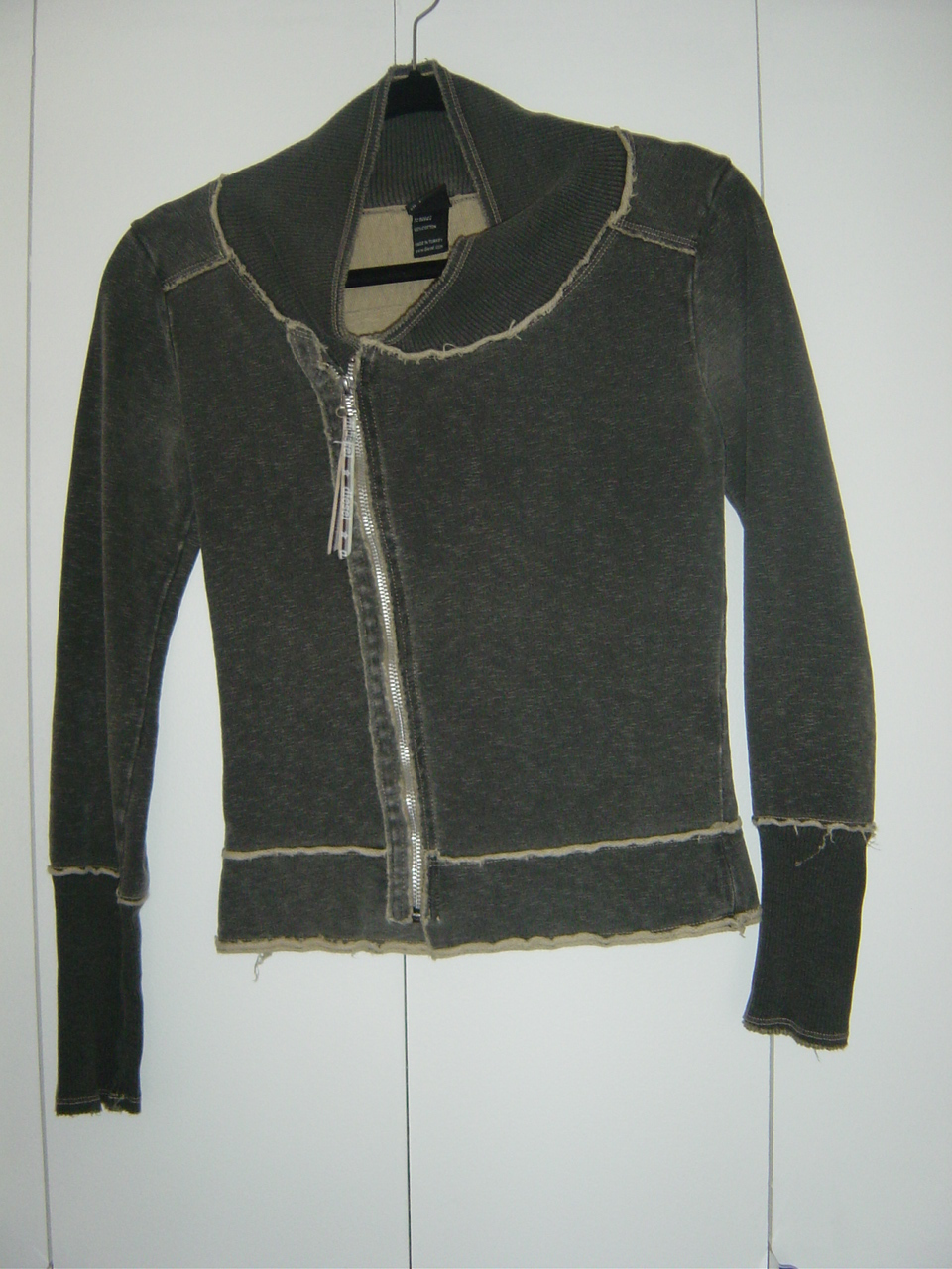 Diesel Grey Zipped Top (Size: Small) GUC