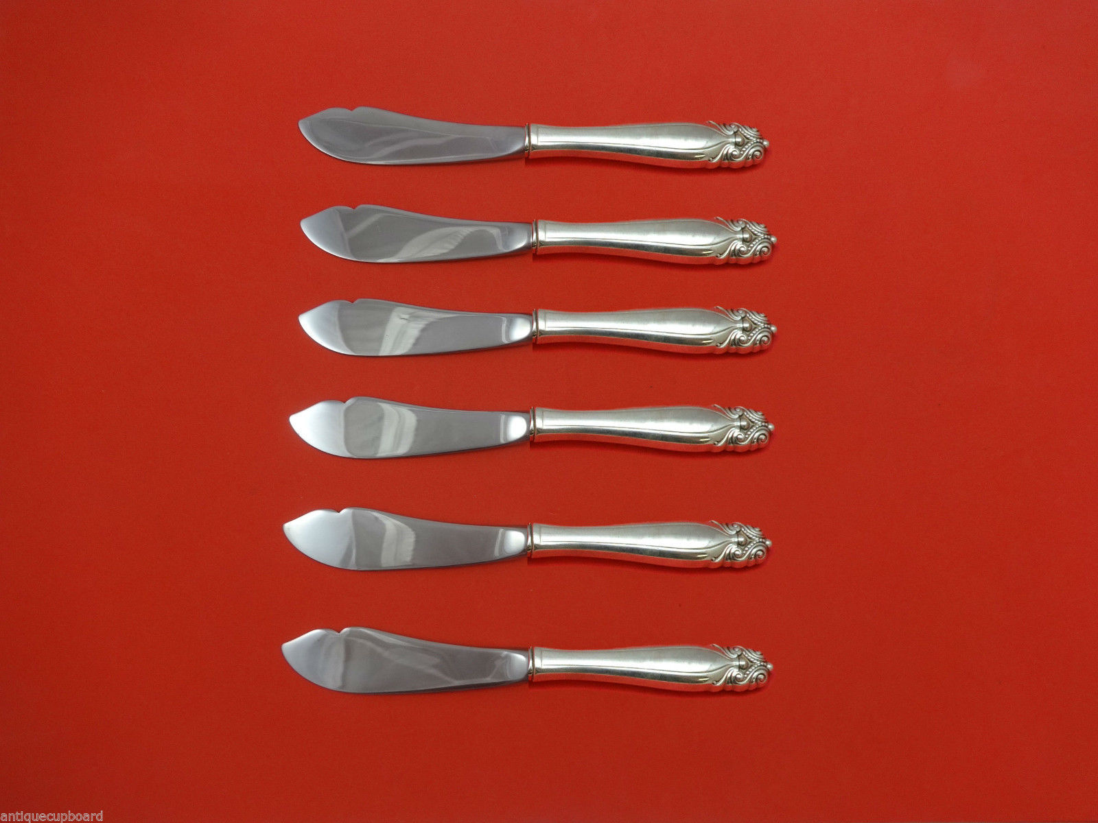 Primary image for King Christian by Wallace Sterling Silver Trout Knife Set 6pc HHWS  Custom Made