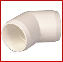 "PVC Fittings Schedule 40 Furniture Grade 2"" Elbows White 20"