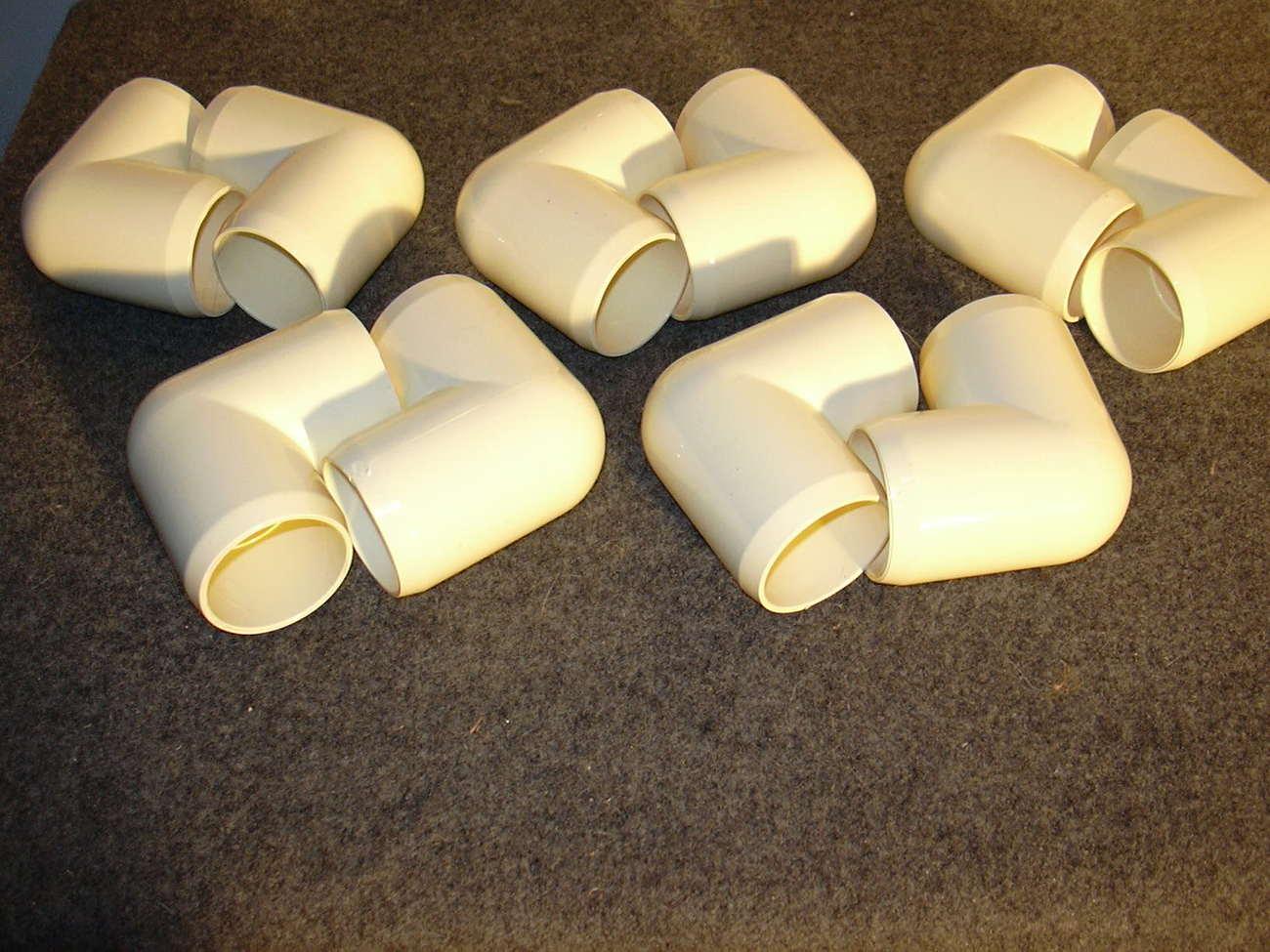 "PVC Fittings 2"" L's 14 pieces Schedule 40 Furniture Grade Va"
