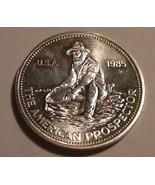 "1985 Englehard ""Amercian Prospector"" 1 Oz. Fine .999 Silver - ₨3,288.71 INR"