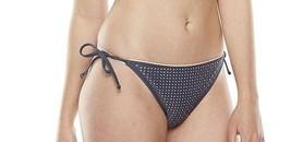 Candies Swim Bikini Gray Coral Side Ties Bottom Women Junior Swimsuit - $6.99