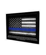 Sheriff Police Thin Blue Line Oath of Office Flag Design 16x20 Aluminum ... - $59.35