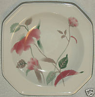 Silk flowers soup bowl