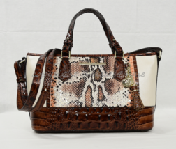Brahmin Mini Asher Satchel/Shoulder Bag in Melon Fisher MultiColored Tri... - $269.00