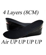 BLACK 8CM UP Air Cushion Increase Height Insole Shoe Pad Unisex - $15.00