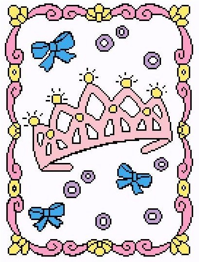 My Little Princess Crochet Graph Afghan Pattern