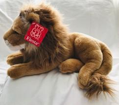 Medium Sized Plush Lion Fiesta Stuffed Toy King of Jungle 1996 New Old S... - $57.09