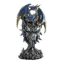 Dragon Crest 10018622 Blue Dragon Warrior Statue Multicolor - $26.93