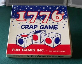 1776 Crap Game Fun Games 1975 Complete Contents VGC - $12.50