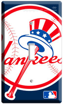 Baseball Mlb New York Yankees Logo Emblem Single Light Switch Wall Plate Cover - $8.99