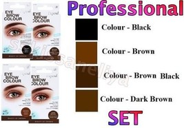 Depend Eye Brow Colour Intensive Set Professional Cream /Stick / Cup /Brush - $13.99