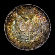 1883 O UNC+++/ GEM  MORGAN SILVER DOLLAR * . NATURAL RAINBOW TONING. 735 - $93.10