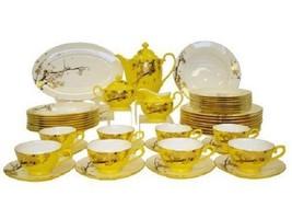 Auratic Fine Bone China Dinnerware Set 47-Piece Yellow Glaze CP 47-FE10-... - $2,474.99