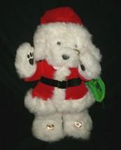 """17 """"vintage 1987 applause santapaws santa dog christmas stuffed animal toy - $23.01"""
