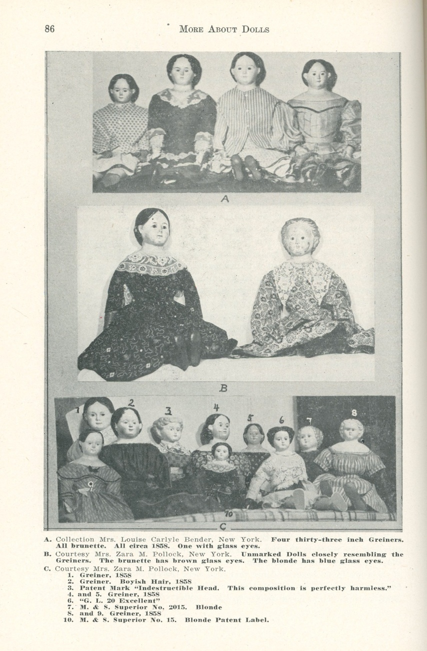 More About Dolls Johl book collecting antique vintage 1st ed china wax
