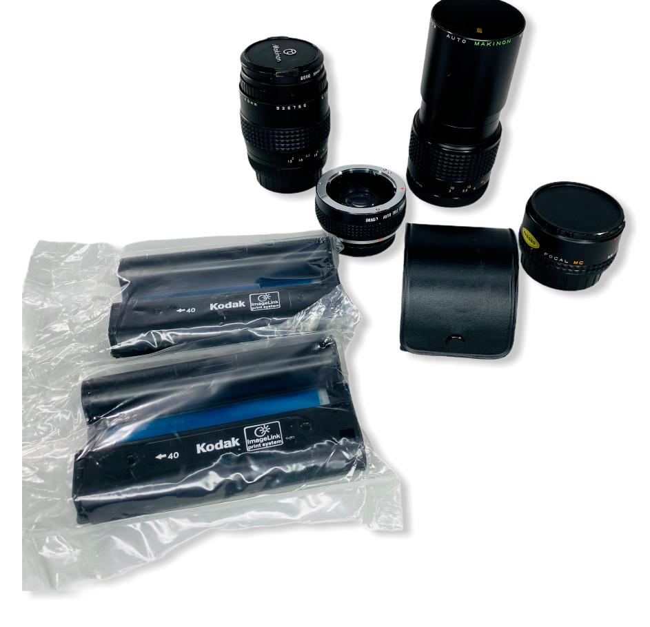 Lot of Camera Lens Equipment Kodak Makinon Hoya Pentax - $37.90