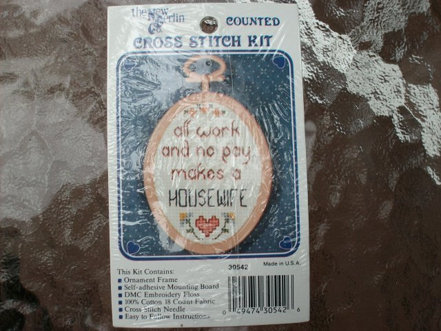 "Counted Cross-Stitch Kit ""...Makes A Housewife"" - New In Package!!"