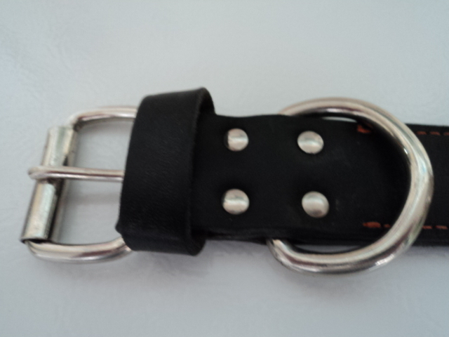 Harley Davidson Large Black Leather Spiked and Studded Collar