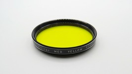 Vintage VIVITAR 52mm - Med Yellow K-2 Filter - Screw Mount - Japan - Cle... - $5.00