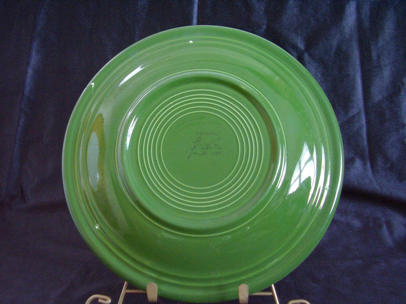 Vintage Fiestaware Forest Green Dinner Plate Fiesta  C