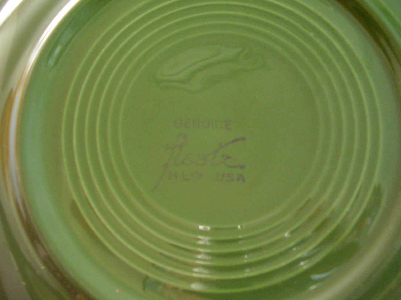 Vintage Fiestaware Forest Green Dinner Plate Fiesta  B