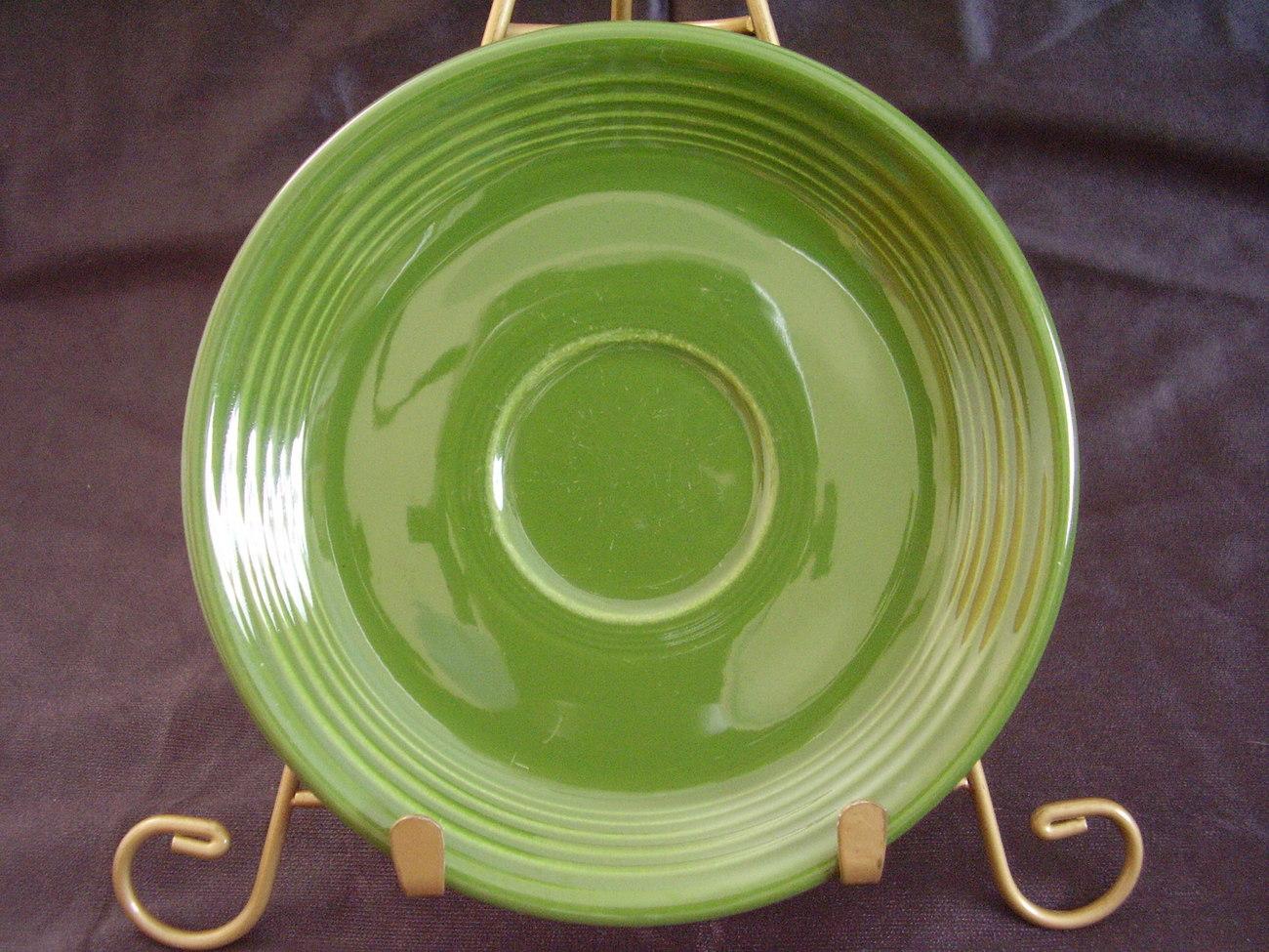 Vintage Fiestaware Forest Green Teacup Saucer Fiesta C