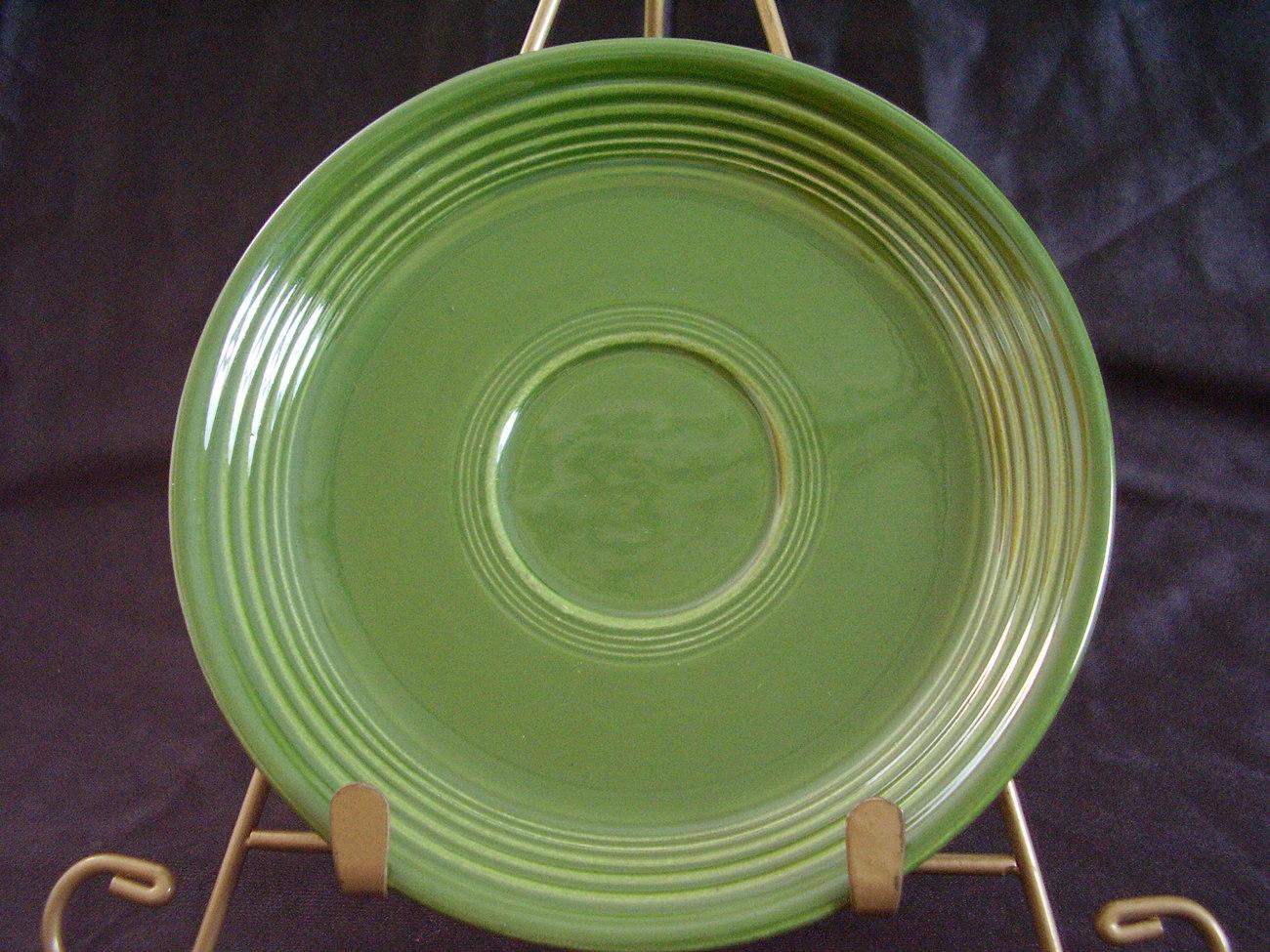 Vintage Fiestaware Forest Green Teacup Saucer Fiesta B