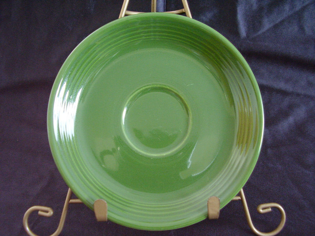 Vintage Fiestaware Forest Green Teacup Saucer Fiesta A