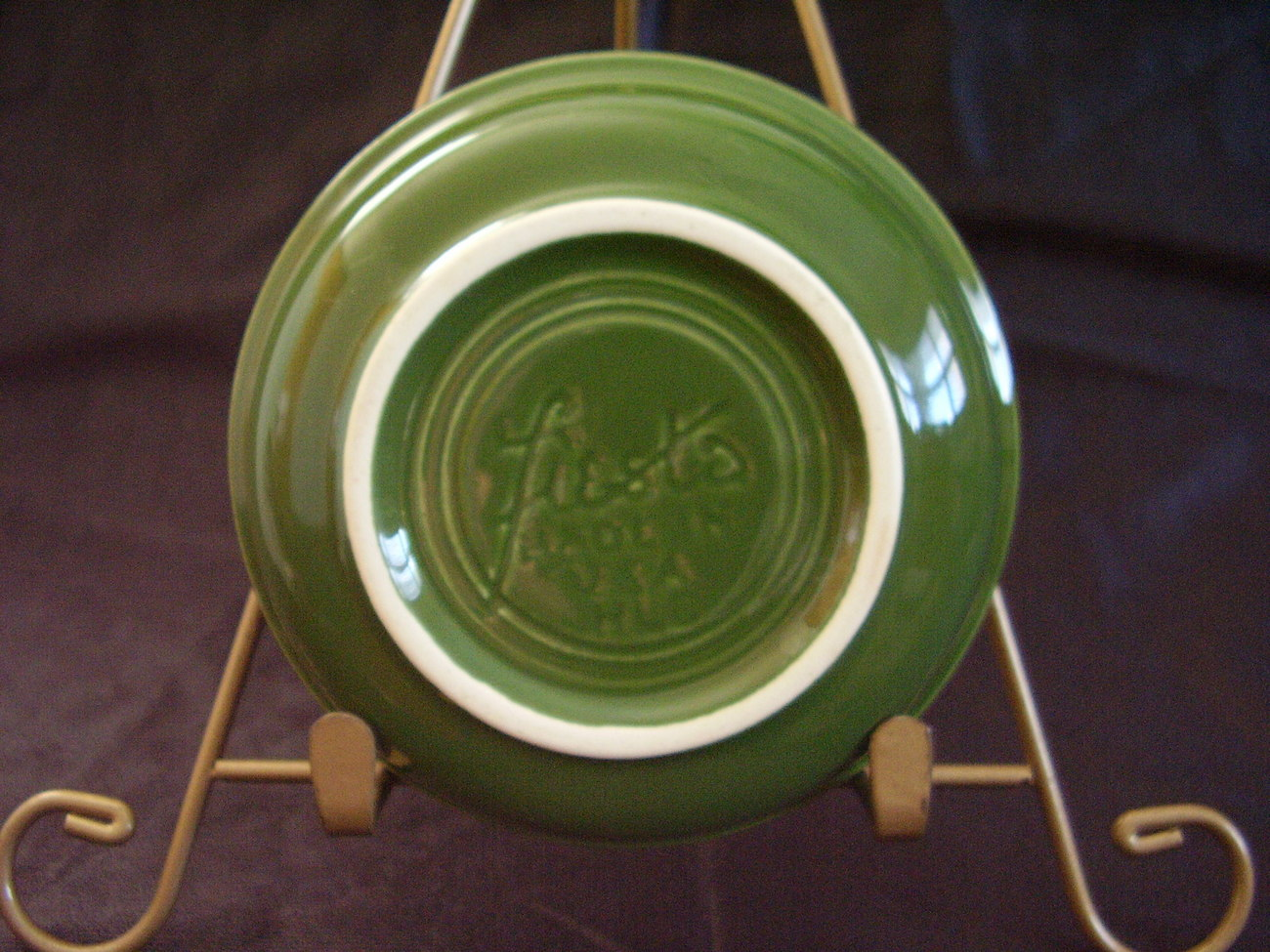 Vintage Fiestaware Forest Green Fruit Bowl Fiesta  D