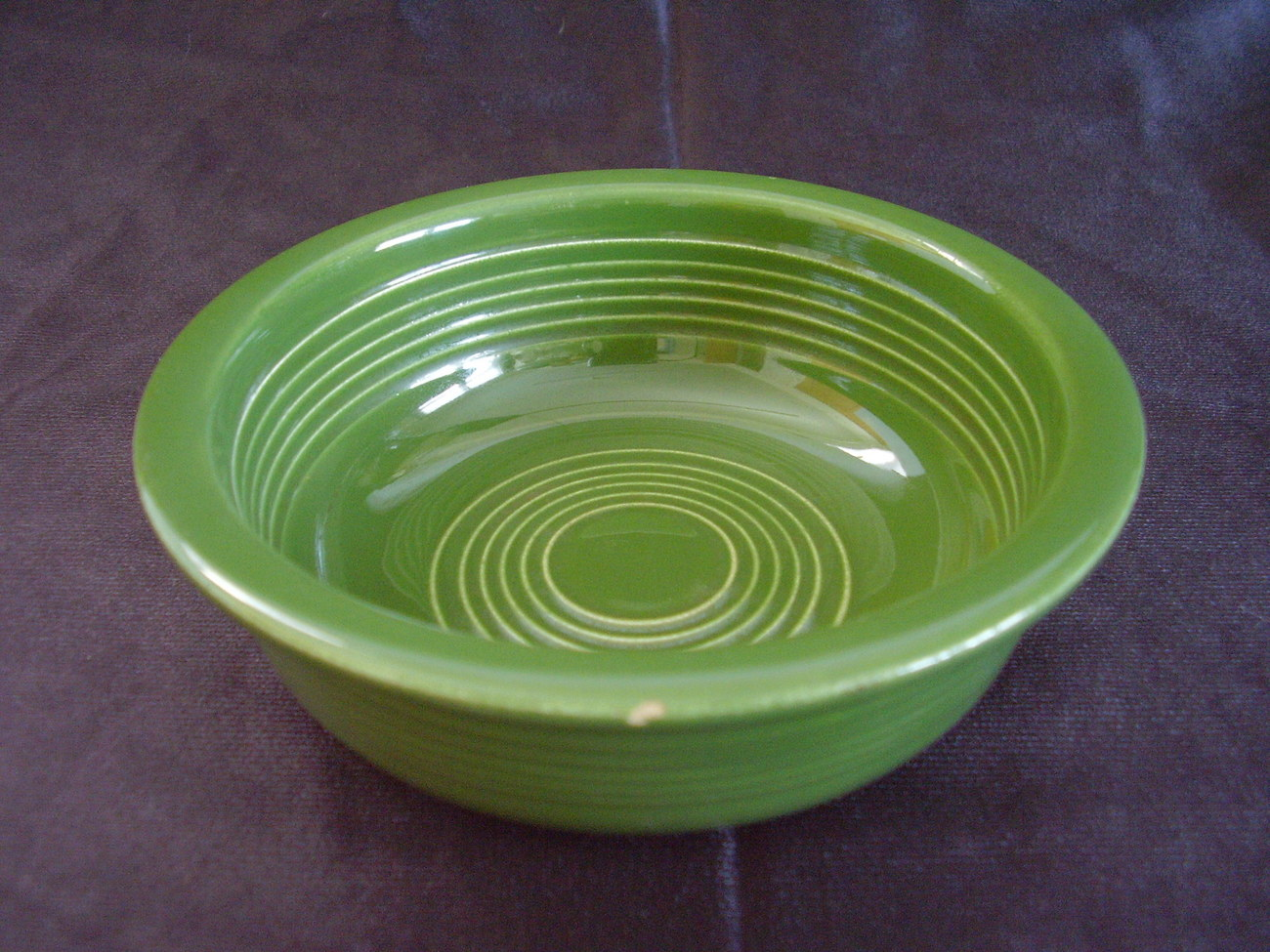 Primary image for Vintage Fiestaware Forest Green Fruit Bowl Fiesta  A
