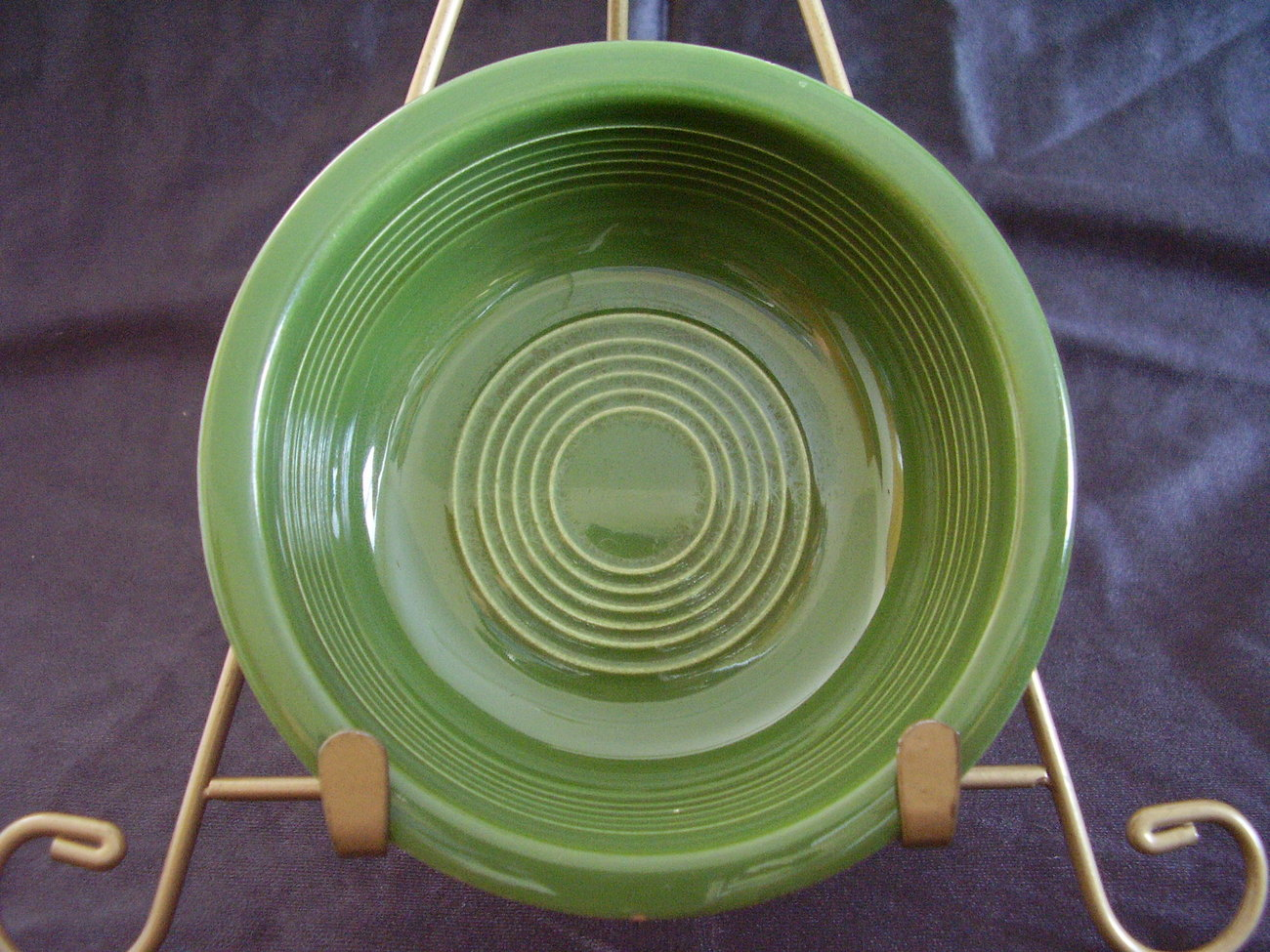 Vintage Fiestaware Forest Green Fruit Bowl Fiesta  A