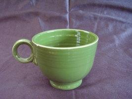 Vintage Fiestaware Forest Green Ring Handle Teacup Fiesta B - $31.59