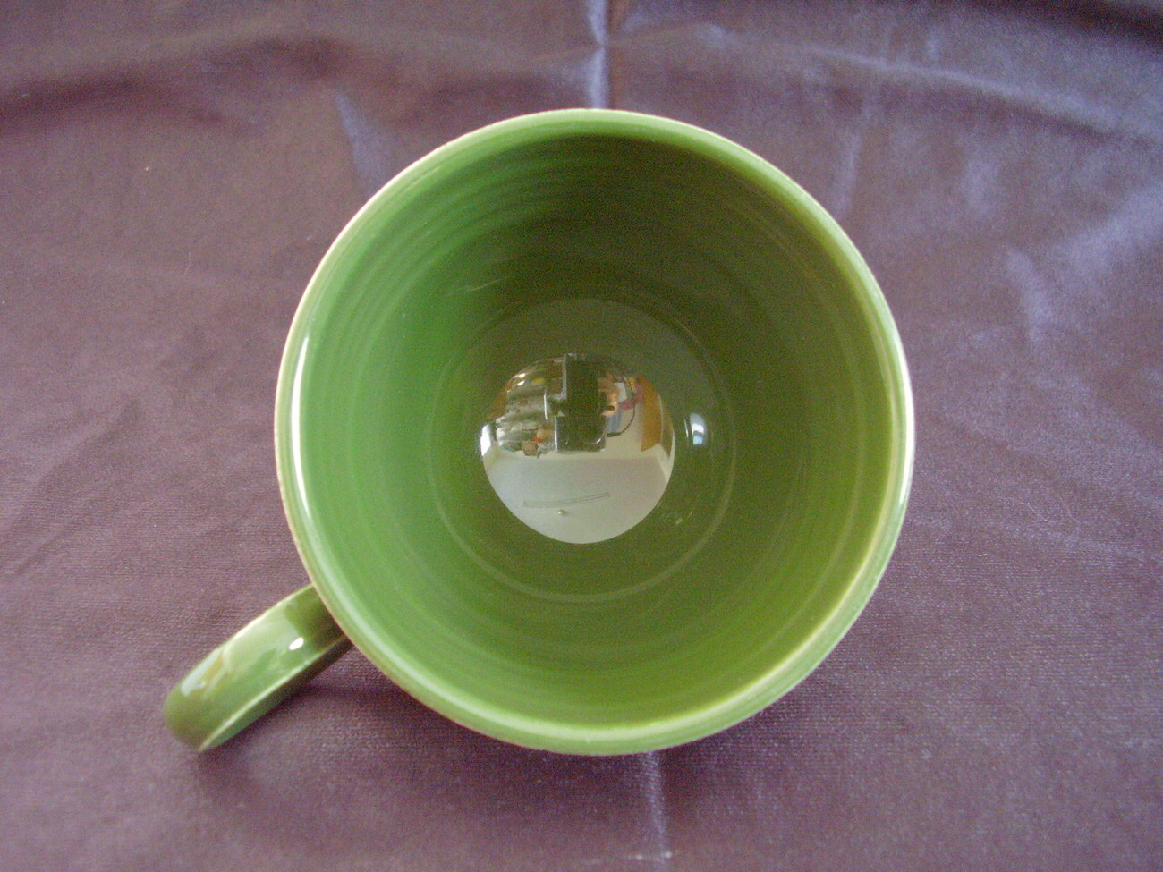 Vintage Fiestaware Forest Green Ring Handle Teacup Fiesta B