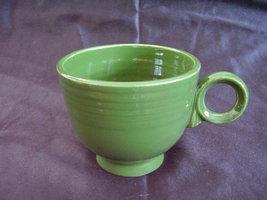 Vintage Fiestaware Forest Green Ring Handle Teacup Fiesta A - $35.64