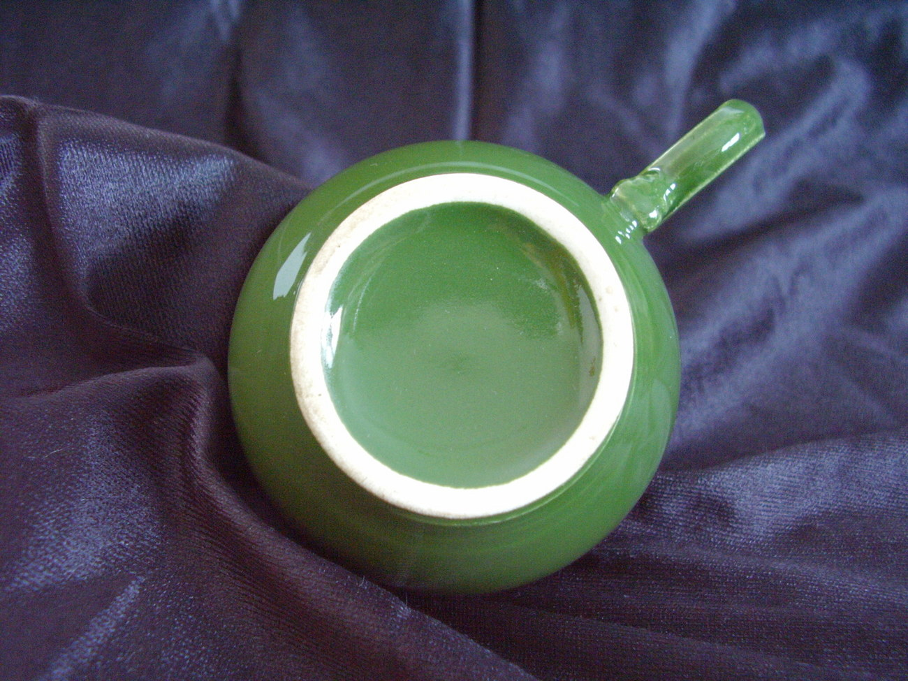 Vintage Fiestaware Forest Green Ring Handle Teacup Fiesta A