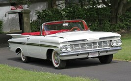 1959 Chevy Impala white | 24x36 inch poster | Looks great! - $20.78