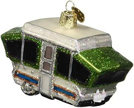 Old World Christmas Glass Blown Ornament Tent Camper 46068 - $13.32
